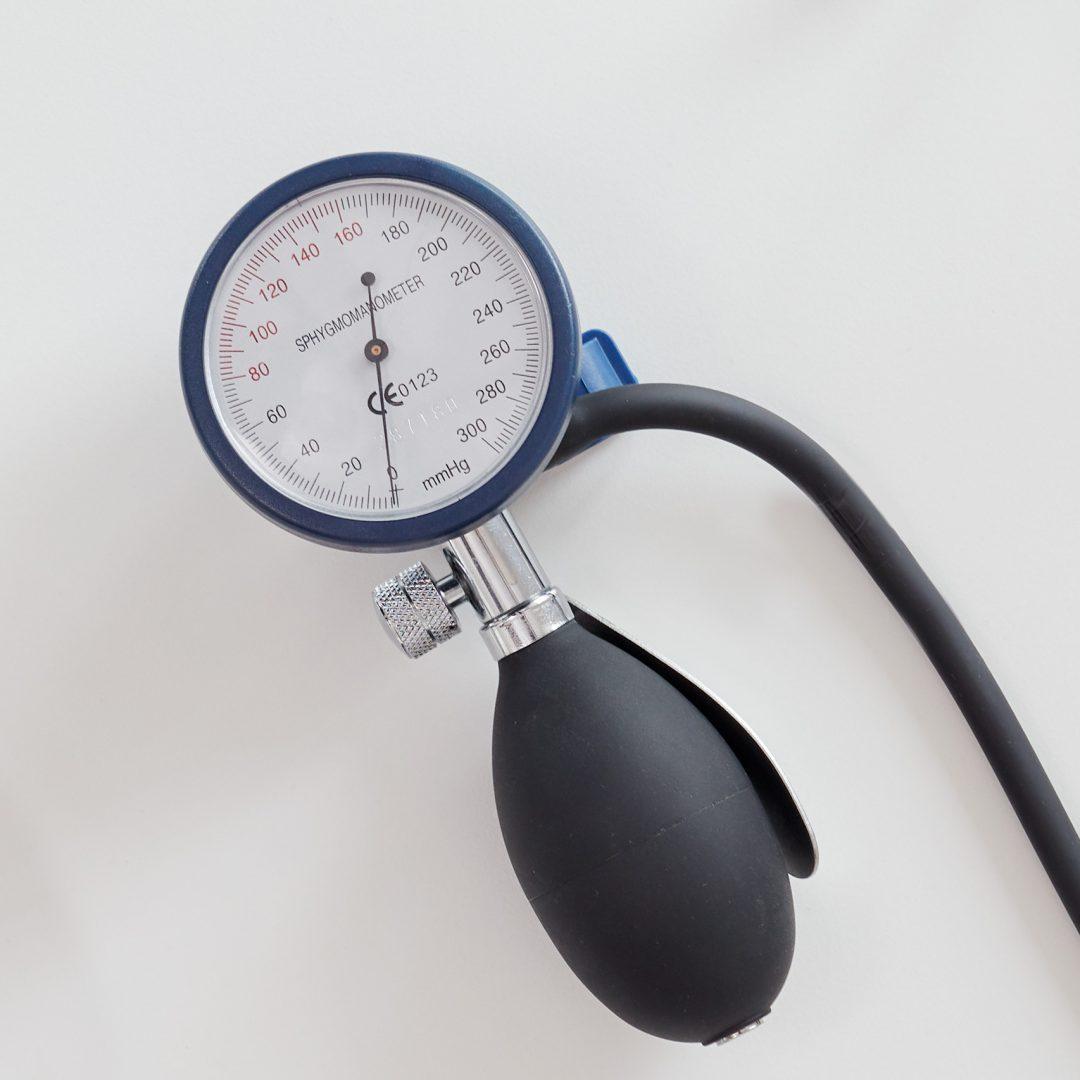 Detail eines Blutdruck-Messgerätes